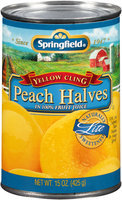 Springfield® Lite Yellow Cling Peach Halves in 100% Fruit Juice 15 oz. Can
