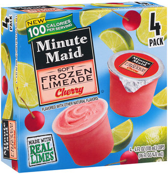 Minute Maid® Soft Frozen Limeade Cherry 4-4 fl oz. Cup.