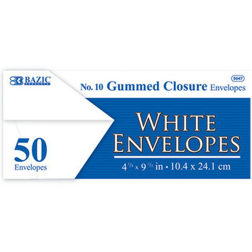 Bazic White Envelope with Gummed Closure