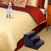 Paw Deluxe Carpeted Wooden Pet Stairs