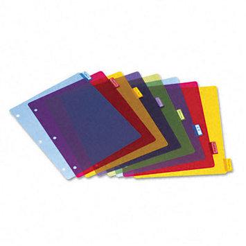 Cardinal Poly Index Dividers, Letter, Assorted, 8-Tabs/Set, 4 Sets/Pack