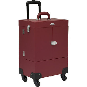Sunrise Cases Nail Artist Pro Rolling Train Case Color: Red