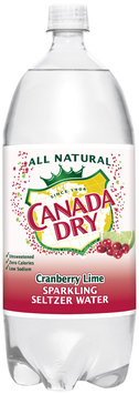 Canada Dry® Cranberry Lime Sparkling Seltzer Water 2L Plastic Bottle