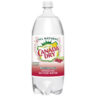 Canada Dry® Cranberry Lime Sparkling Seltzer Water 2L Plastic Bottle