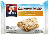 Quaker® Oatmeal to Go Banana Bread Breakfast Bar 2.1 oz. Bar