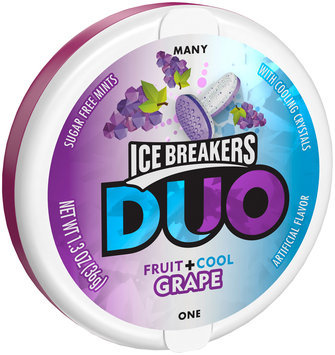 Ice Breakers® Duo Grape Mints 1.3 oz. Tin