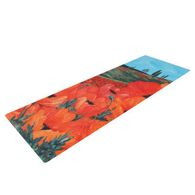 Kess Inhouse Poppies by Christen Treat Yoga Mat