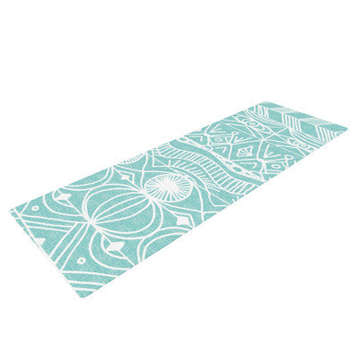 Kess Inhouse Beach Blanket Bingo by Catherine Holcombe Yoga Mat