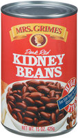 Mrs. Grimes Dark Red Kidney Beans 15 Oz Can