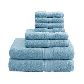 Madison Park Signature 800 GSM Cotton 8 Piece Towel Set Color: Aqua