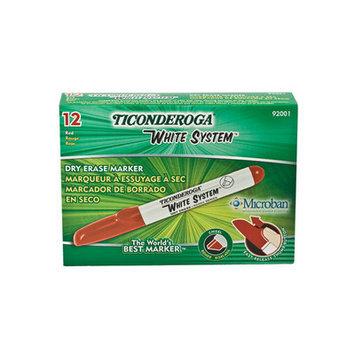 Dixon Ticonderoga Co. Dixon Ticonderoga Company Dry-Erase Marker, Chisel Tip, 4/ST, BK/RD/BE/GN
