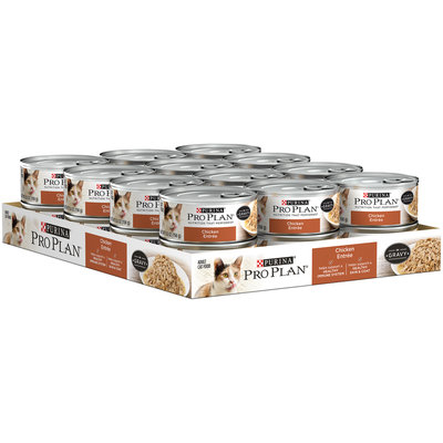 Purina Pro Plan Chicken Entree in Gravy Cat Food 5.5 oz. Can