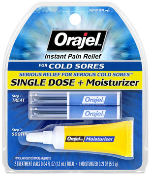 Orajel™ Single Dose Plus Moisturizer Instant Pain Relief for Cold Sores