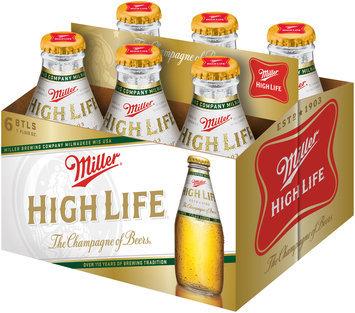 Miller High Life Beer 6-7 fl. oz. Glass Bottles