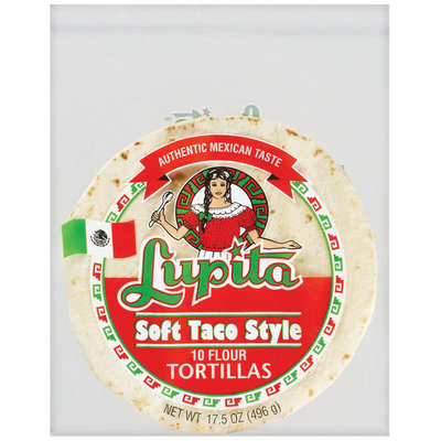 Lupita Soft Taco Style Flour 10 Ct Tortillas 17.5 Oz Bag
