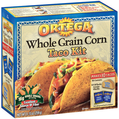 Ortega Whole Grain Corn Taco Kit 9.15 Oz Box
