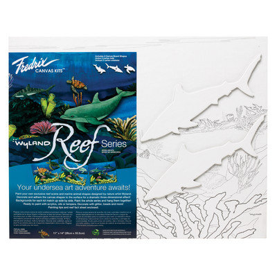 Wyland Reef Series Shark Canvas Kit (Set of 12)