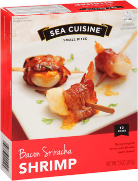 Sea Cuisine® Small Bites Bacon Sriracha Shrimp 7.3 oz. Box