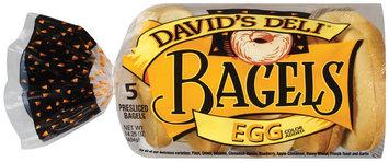 David's Deli Egg Presliced 5 Ct Bagels 14.25 Oz Bag