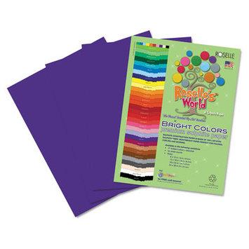 Roselle Paper Co 70801 Premium Sulphite Construction Paper 76 Lbs. 9 X 12 Violet 50/pack