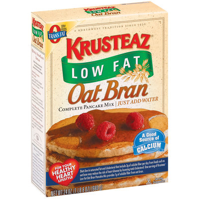 Krusteaz Oat Bran Complete Low Fat Pancake Mix 24 Oz Box