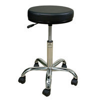 Oakworks Professional Stool with Round Swivel Seat Color: Espresso