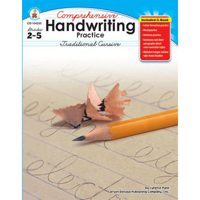 Carson-dellosa Publishing Carson Dellosa CD104250 Comprehensive Hand writing Practice Traditional Cursive