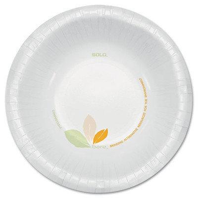 SOLO Cup Company Bare Paper Dinnerware, 12oz Bowl, Green/Tan, 500/Carton