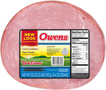 Owens® Fully Cooked Ham Steaks 8-4 oz. Steaks