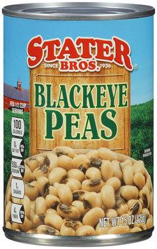 Stater Bros.® Blackeye Peas 15 oz. Can.