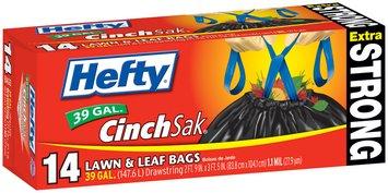 Hefty Extra Strong Lawn & Leaf Drawstring 39 Gallon Lawn & Leaf 14 CT BOX