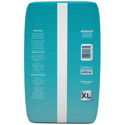 APP0740 Attends Underwear Complete, X-Large, 14 count Pack