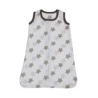Bacati Stars Sleep Sack Size: Medium, Color: Grey