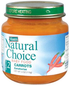 Mom's Natural Choice Baby Food Carrots 4 oz Jar