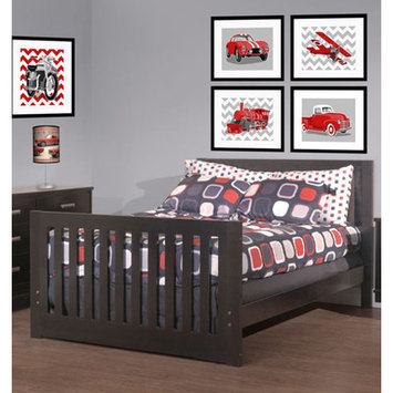 Capretti Design Liscio Toddler and Full Size Bed Conversion Kit Finish: Graphite