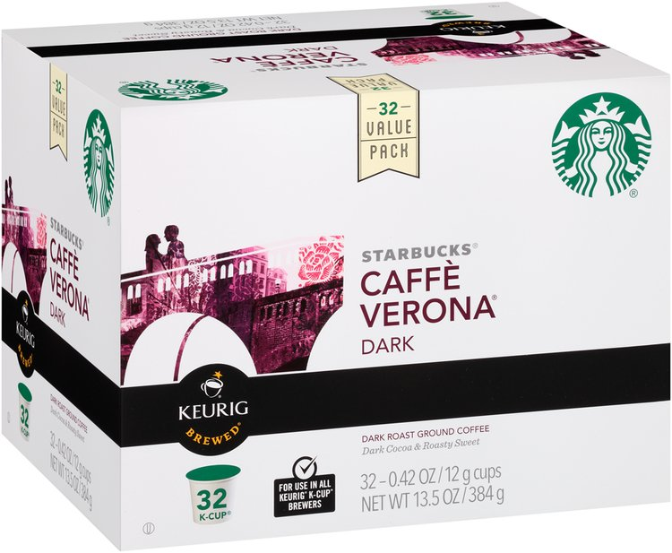Starbucks® Caffe Verona® Dark Roast Ground Coffee K-Cups®