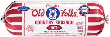 Purnell's Old Folks Hot Country Sausage 16 Oz Chub