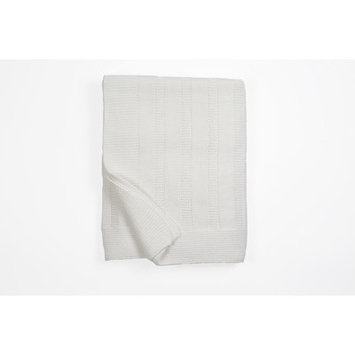 Honeyami Ribbed Receiving Blanket Color: White