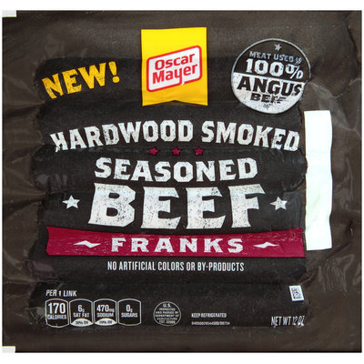 Oscar Mayer Hardwood Smoked Seasoned Beef Franks 6 ct Pack