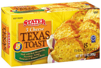 Stater Bros. 5 Cheese 8 Ct Thick Slices Texas Toast 13 Oz Box
