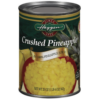 Haggen Crushed In 100% Pineapple Juice No Sugar Added Pineapple 20 Oz Can
