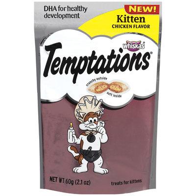 Whiskas Temptations Kitten Chicekn Flavor Cat Snacks & Treats 2.1 Oz Pouch