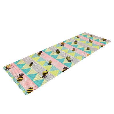 Kess Inhouse Little Bee by Louise Machado Pastel Chevron Yoga Mat