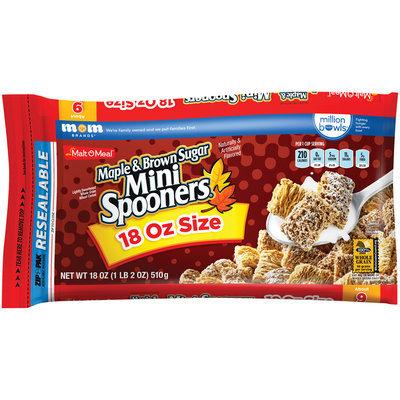 Malt-O-Meal® Maple & Brown Sugar Mini Spooners® Cereal 18 oz. ZIP-PAK