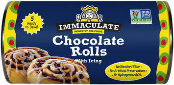 Immaculate® Chocolate Rolls with Icing 5 ct Can