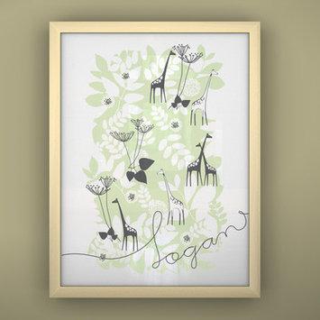 Littlelion Studio Prints Unframed Backyard Art Color: Green / Charcoal