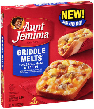 Aunt Jemima® Sausage, Ham & Bacon Griddle Melts™ 4 ct Box