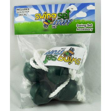 Swing Set Stuff Ball Climbing Rope Color: Green