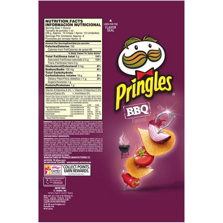 Pringles® BBQ Flavored Potato Crisps 5.5 oz. Canister