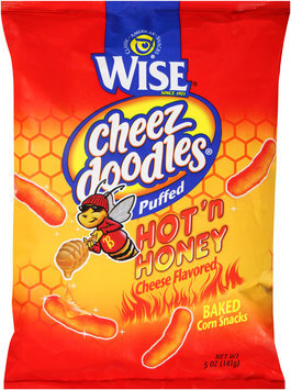Wise® Cheez Doodles® Puffed Hot'n Honey Cheese Flavored Baked Corn Snacks 5 oz. Package